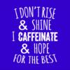 caffeinate hope blue square