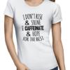 caffeinate hope ladies tshirt white