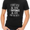caffeinate hope mens tshirt black
