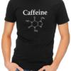 caffeine molecule mens tshirt black