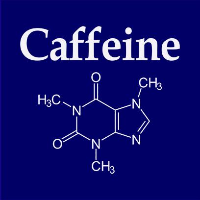 caffeine molecule navy square