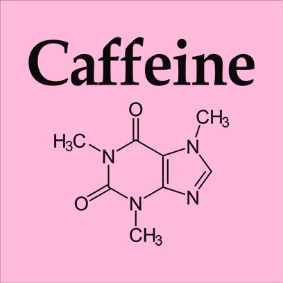 caffeine molecule pink square