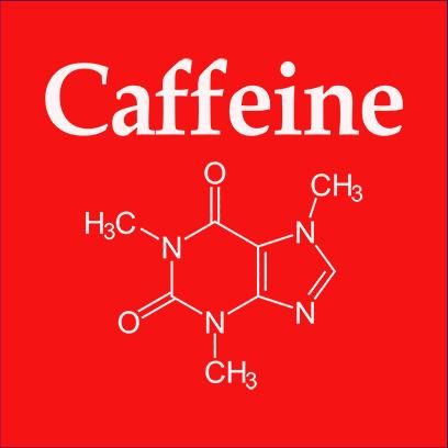 caffeine molecule red square
