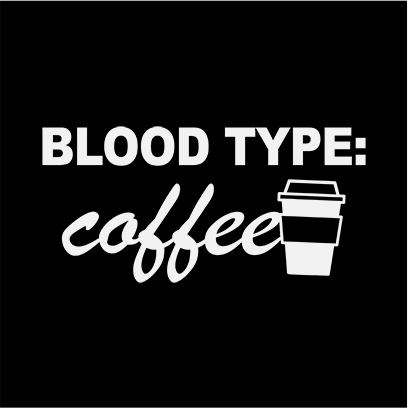 coffee blood type black square