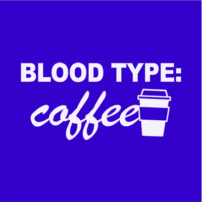 coffee blood type blue square