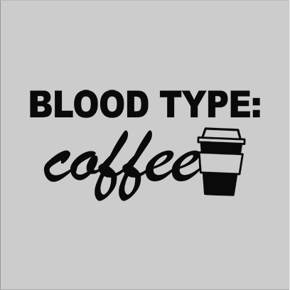 coffee blood type grey square