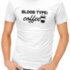 coffee blood type mens tshirt black