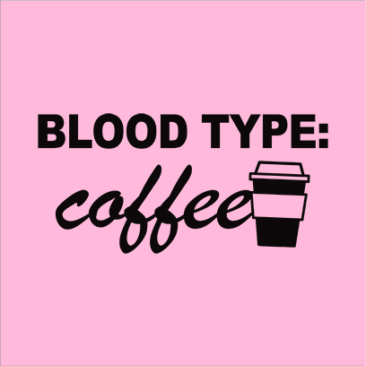 coffee blood type pink square