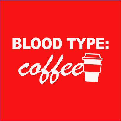 coffee blood type red square