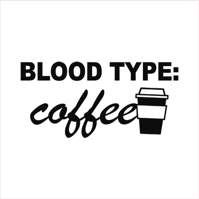 coffee blood type white square