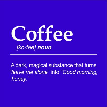 coffee noun blue square