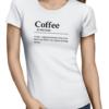 coffee noun ladies tshirt white