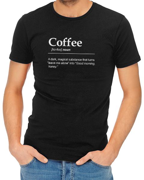 coffee noun mens tshirt black