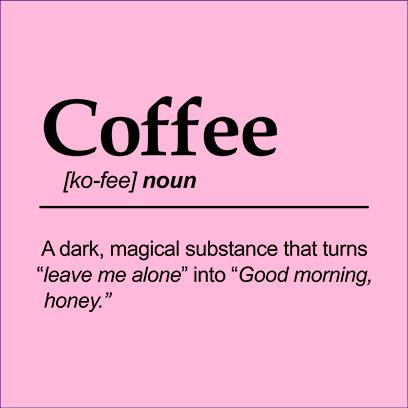 coffee noun pink square