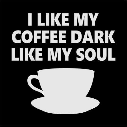 dark coffee black square