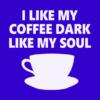 dark coffee blue square