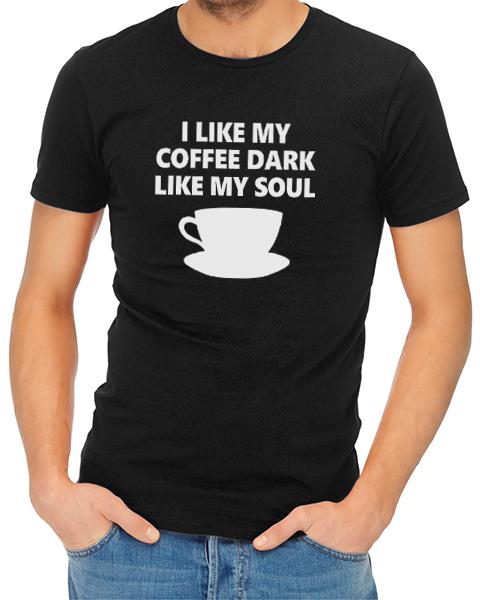 dark coffee mens tshirt black