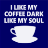 dark coffee navy square