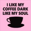 dark coffee pink square