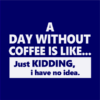 day without coffee navy square