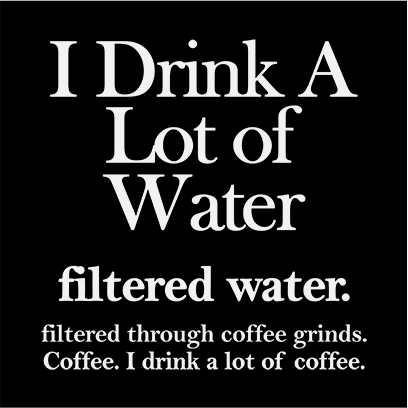 filtered water coffee black square