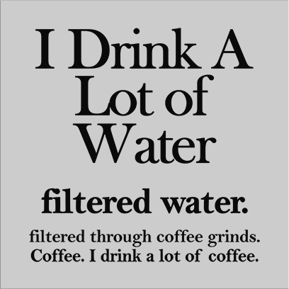 filtered water coffee grey square