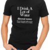 filtered water coffee mens tshirt black