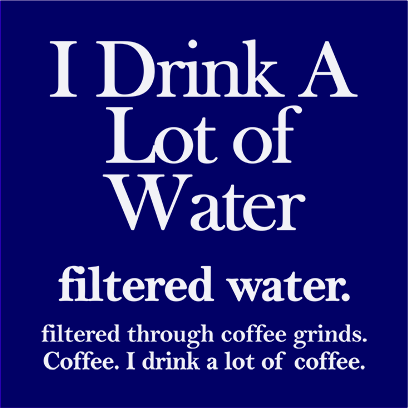 filtered water coffee navy square