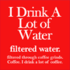 filtered water coffee red square