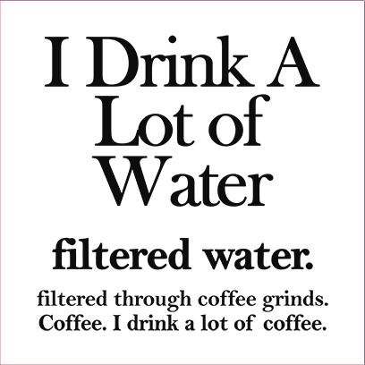 filtered water coffee white square