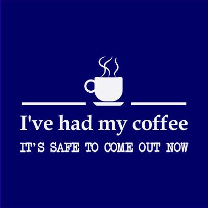 had coffee navy square