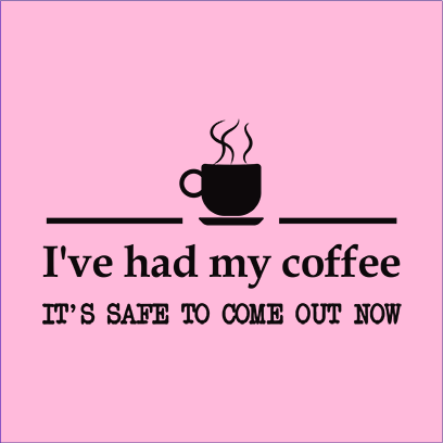 had coffee pink square