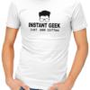 instant geek coffee mens tshirt white