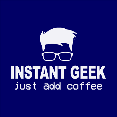 instant geek coffee navy square