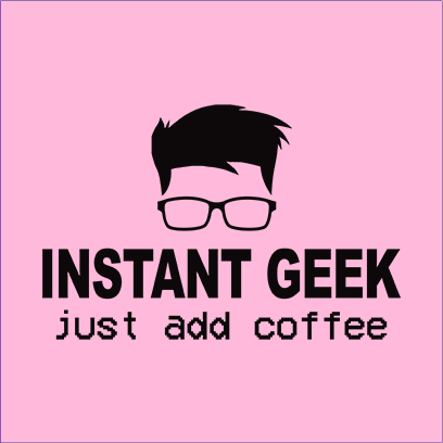 instant geek coffee pink square
