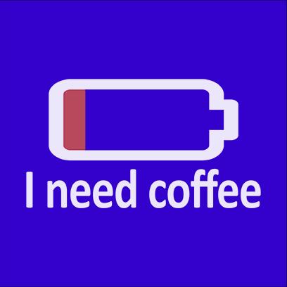 need coffee blue square