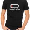 need coffee mens tshirt black