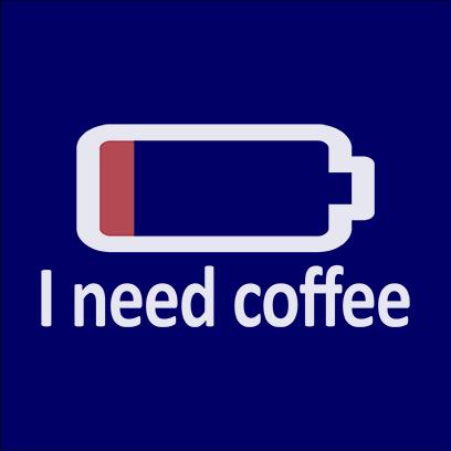 need coffee navy square