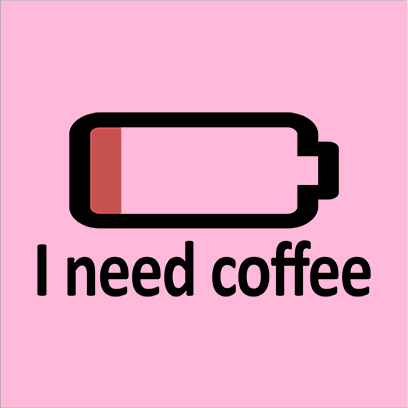 need coffee pink square