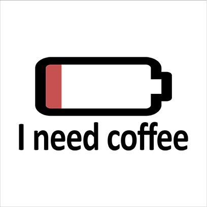 need coffee white square