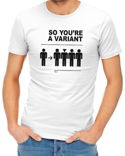 a variant mens tshirt white