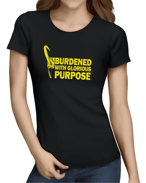 glorious purpose ladies tshirt black