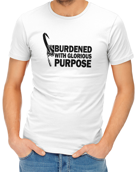 glorious purpose mens tshirt white
