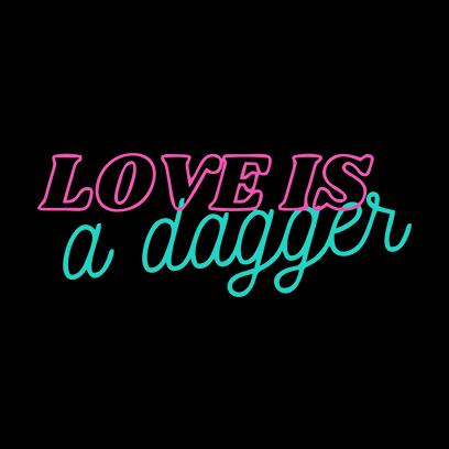 love is dagger black square