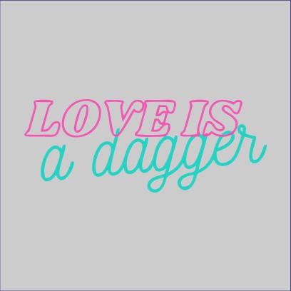 love is dagger grey square