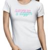 love is dagger ladies tshirt white