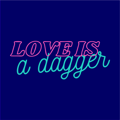 love is dagger navy square