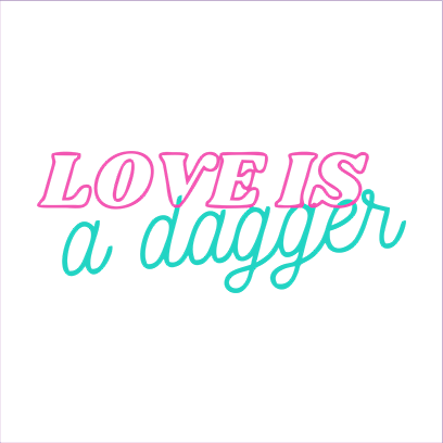 love is dagger white square