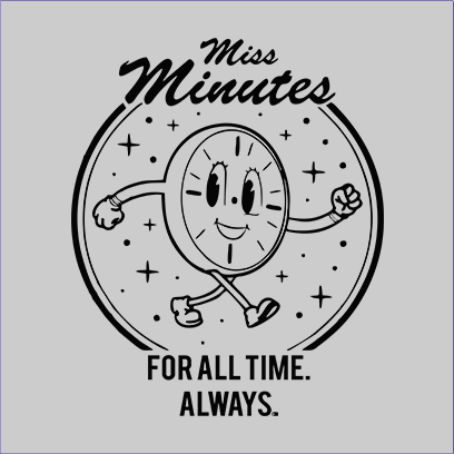 miss minutes grey square