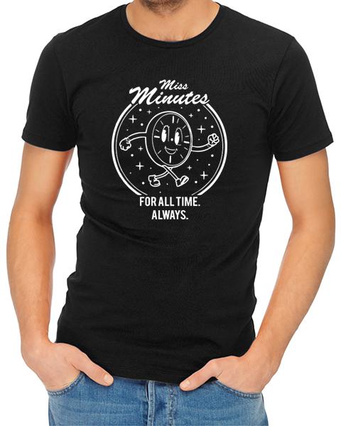 miss minutes mens tshirt black